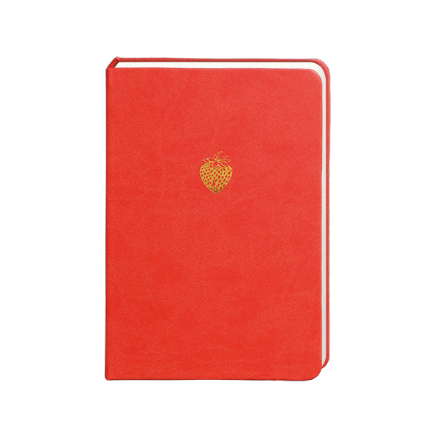 Sky + Miller Strawberry Notebook, 300 A5 Ruled Pages, Designed in UK